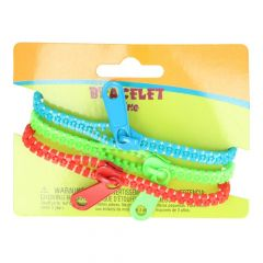 Zipper bracelet  -  3 bracelets per card  -  5pcs