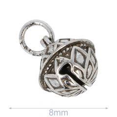 Decorative bell 8-14mm silver - 50pcs