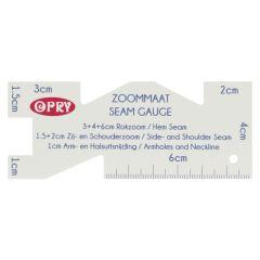 Opry Seam gauge plastic 10x4cm - 10pcs