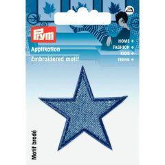 Prym Embroidered motif Stars jeans medium blue - 3pcs.   G
