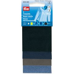 Prym Iron-on repair sheet cotton 14x7cm assorted - 5pcs