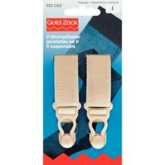 Prym V-back suspenders 20mm beige - 5x2pcs