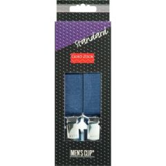 Prym Men's suspenders 110cm 25mm navy - 1pc