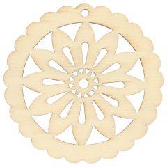 Wooden ornament star 4.8cm - 10pcs