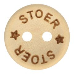 Wooden button stoer size 24-32 - 50pcs