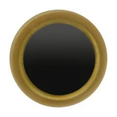 Animal eyes black and bright gold 8-12mm - 50pcs