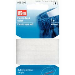 Prym Elastic tape soft 40mm black-white 1m - 1p. I
