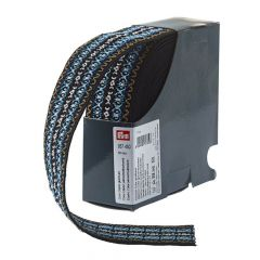 Prym Coloured elastic pattern 50mm blue - 7m