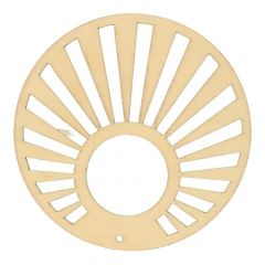 Wooden ornament fan 70mm - 10pcs