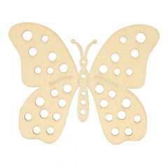 Wooden ornament butterfly 10,2 cm - 10 pcs