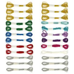 Simy's Studio metallic embroidery thread - 24pcs
