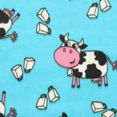Tissu de Marie Fabric flannel cows 1.15m - 10m
