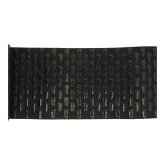 Elastic with non-slip feet pattern 15cm black - 3m