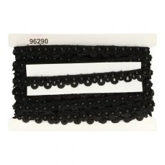 Pearl ribbon Chemical lace in light, offwhite and black  -  12m