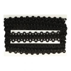 Pearl ribbon Chemical lace in light, offwhite and black  -  13.7m