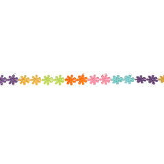 Gimp trim flowers multicolour 12mm - 13.7m