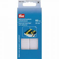 Prym Hook and loop tape Self-adhesive 20 mm white-black - 5pcs. N