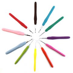 Opry Crochet hook set soft grip 2.00-8.00mm - 5x11pcs