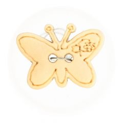 Button wood butterfly lasered size 24, 28 of 32  -  50pcs