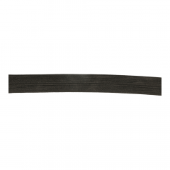 Fold-over elastic 30mm black - 25m