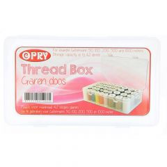 Sewing thread box for max. 42 bobbins 50-1000m - 10pcs