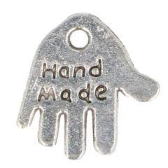 Charm hand 'hand made' - 100pcs