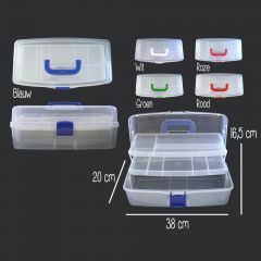 Opry Sewing box 9,6 liters - 38x20x16,5 cm - in 5 colors - 1pc