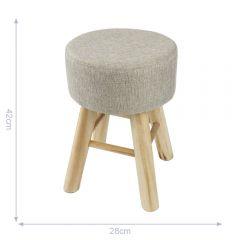 Wooden stool - 6pcs