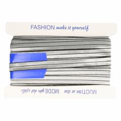 Fold-over elastic silver - 25m