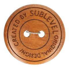 Button wood created by sublevel - SIZE 32 & 40- 40/50 pieces