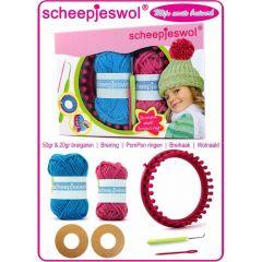 Knitting kit children w. Knitting ring Mijn Mutsi - 10pcs
