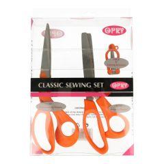 Opry Set of scissors orange pinking/folding - 1 set