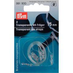 Prym Transparent bra straps 15mm - 5pcs.  U