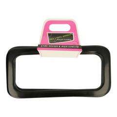 Bag handle plastic 19cm - 3 pairs - black
