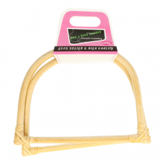 Bag handle bamboo 17,5cm - 3 pairs