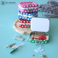 Travel sewing kit 8x.cm - 4 shades - 12pcs