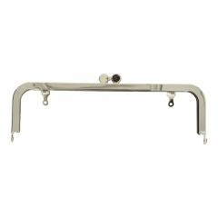 Bag handle metal 21cm silver - 3pcs