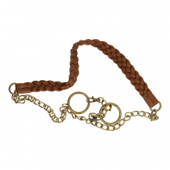 Bag handle leather with chain 123cm - 3pcs