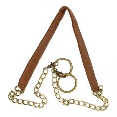 Bag handle leatherette with chain 123cm - 3pcs
