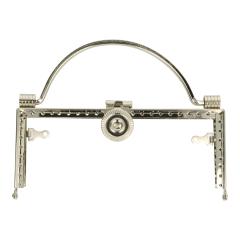 Bag handle metal silver - 3pcs