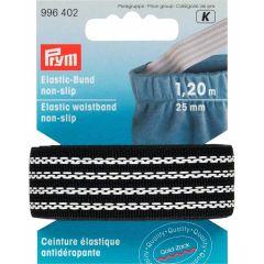 Prym Elastic Waistband tape non-slip 25mm black 1,2m-5pcs. K