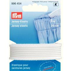 Prym Jersey elastic 20mm white-black 1m - 5pcs. K