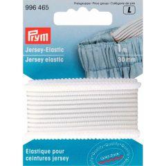Prym Jersey elastic 30mm white-black 1m - 5pcs L