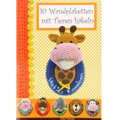 10 Wandplaketten mit Tieren häkeln - Anja Toonen - 1pc