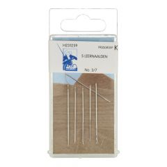 MMJZ Leather needles no.3-7 silver - 5x5pcs