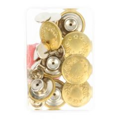 MMJZ Jeans buttons 8pcs - 5 pcs - Gold