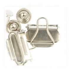 MMJZ Dungaree clasps Nickel - 5card