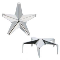 MMJZ Studs Glamour stars silver 3,80 (20 op pcs) - 5 pcs