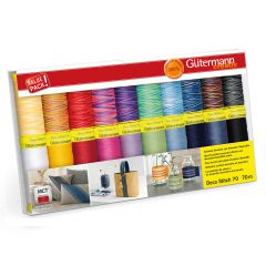 Gütermann Sewing thread set deco stitch 20x70m - 1pc - 1
