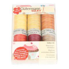 Gütermann Machine embroidery threads set Cotton 30